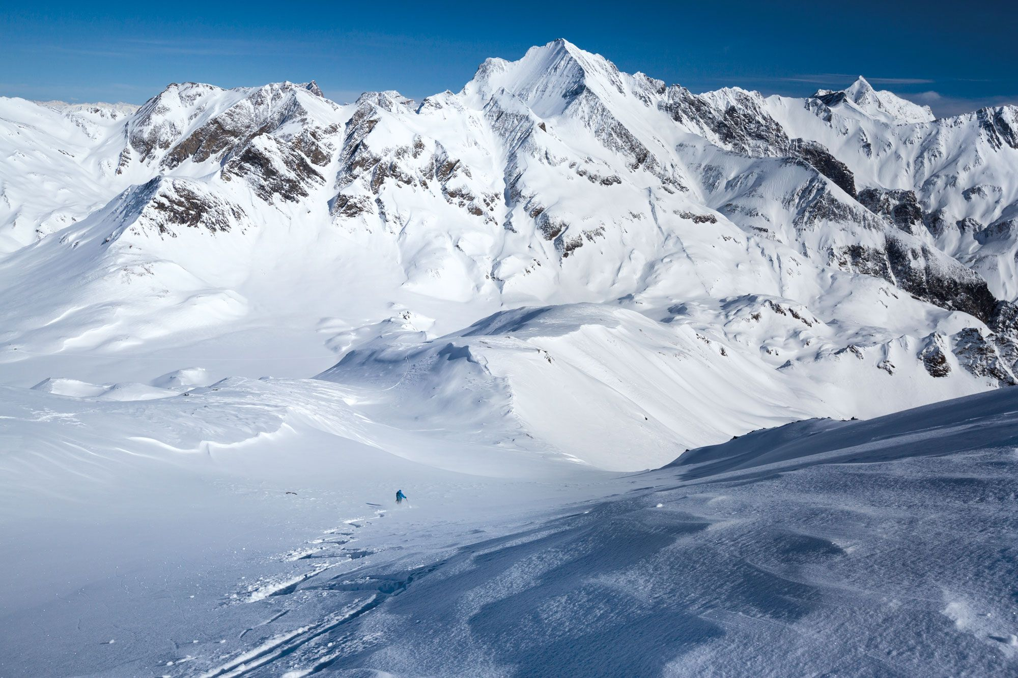 Skidurchquerung in Graubündens wildem Westen
