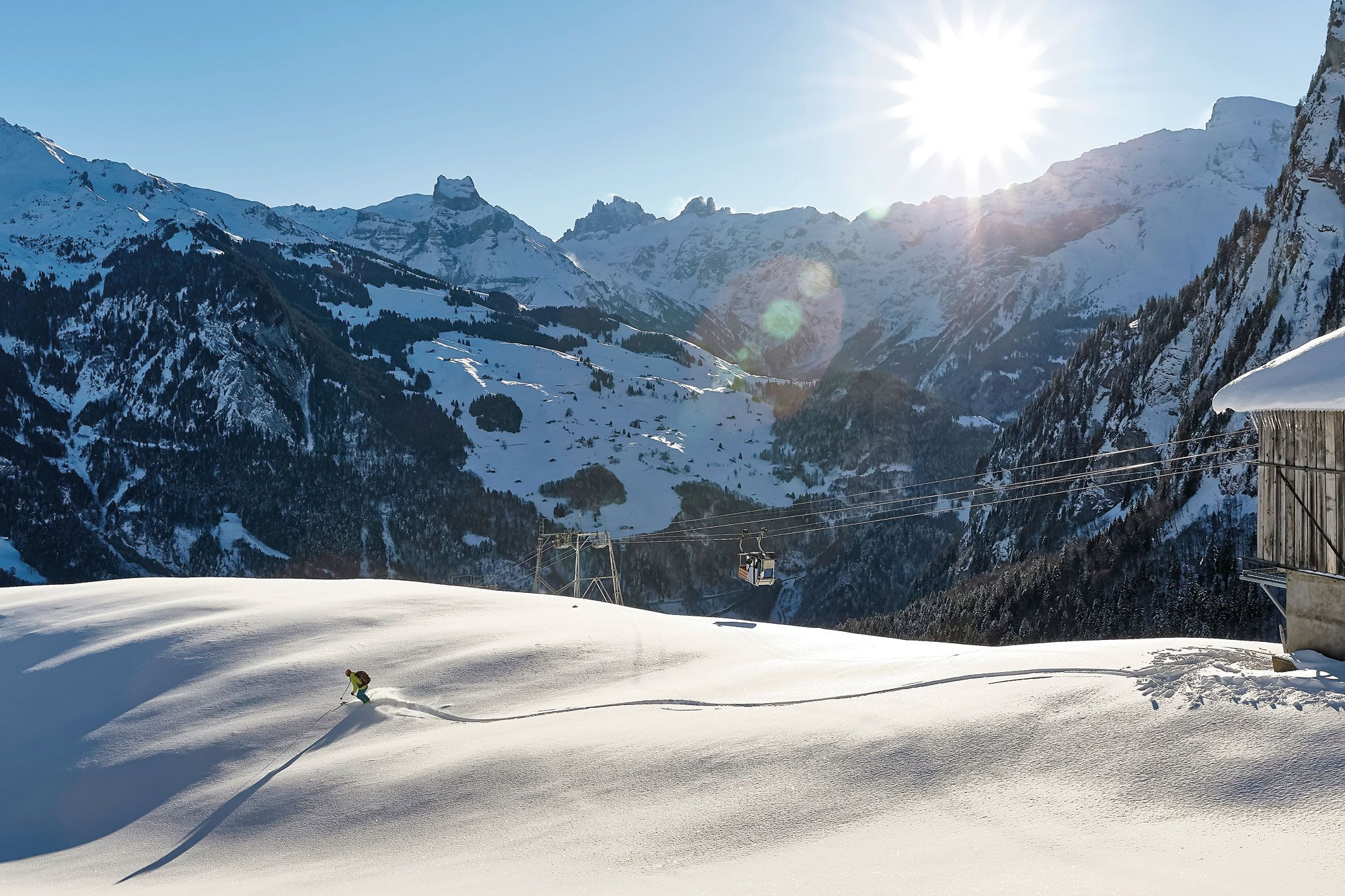 Zeitreise in der Kuhgondel: Skitouren in Engelberg