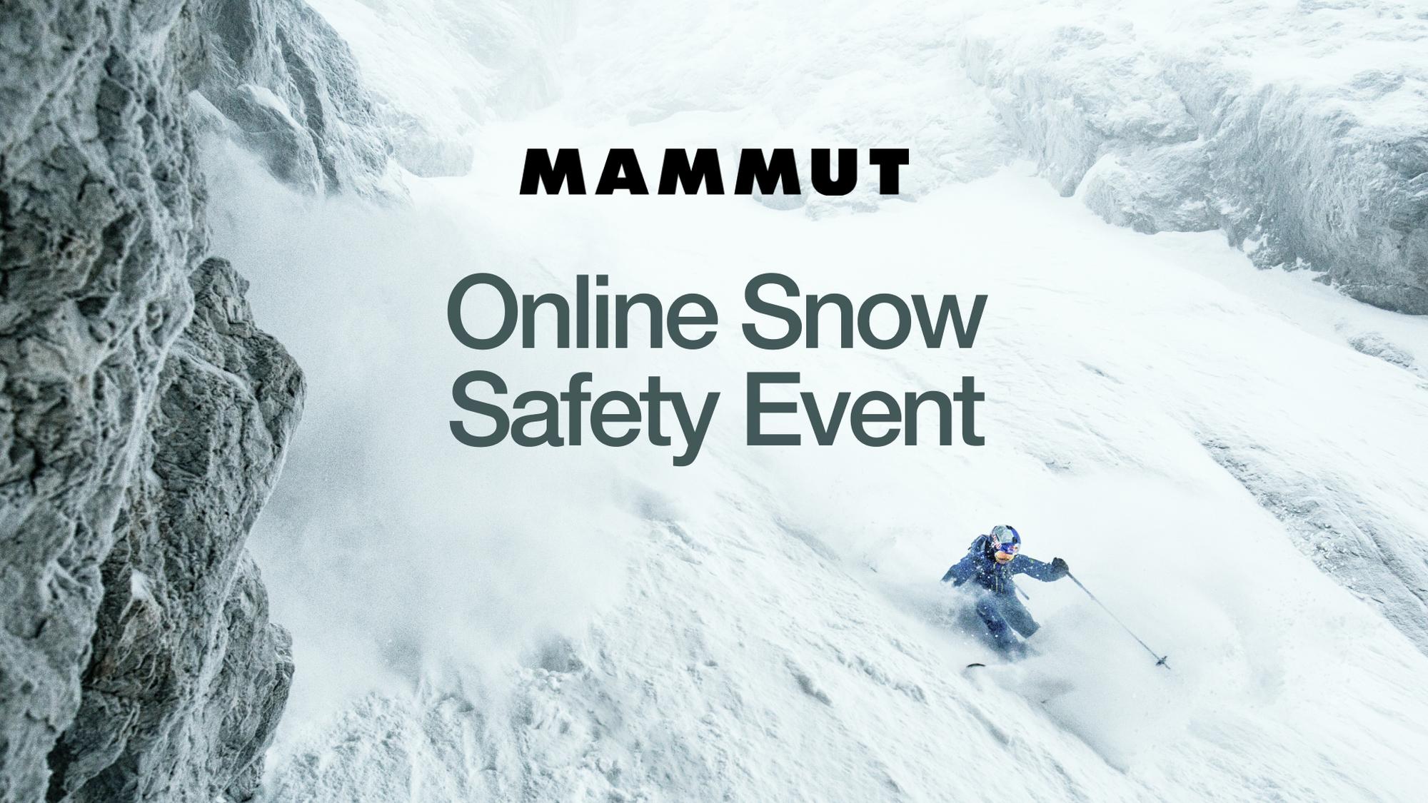 Lawinensicherheit online: Mammut lädt zum Youtube-Workshop