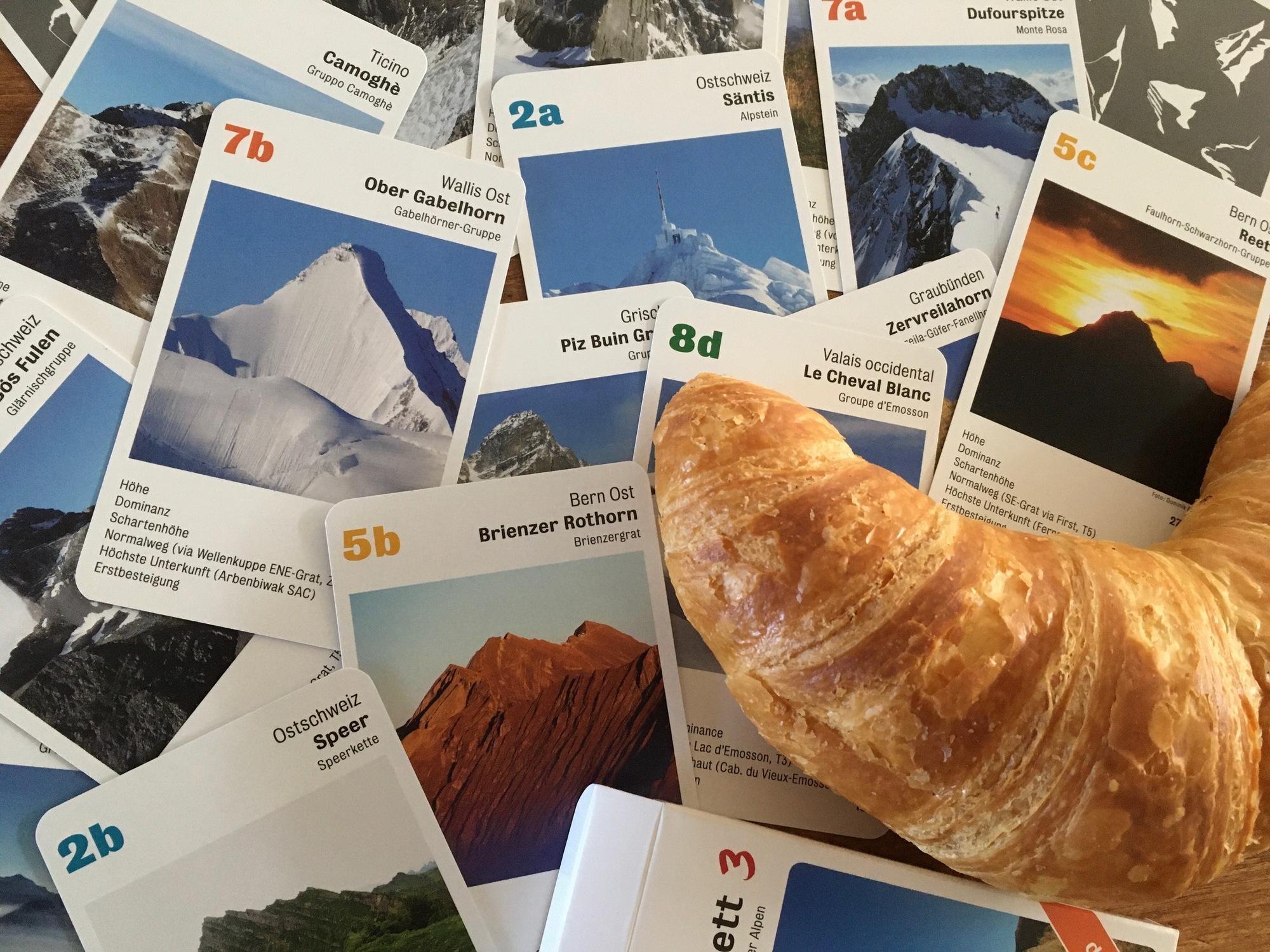 Alpinquartett: Schweizer Kartenspiele mit Bergen, Seen und Hütten