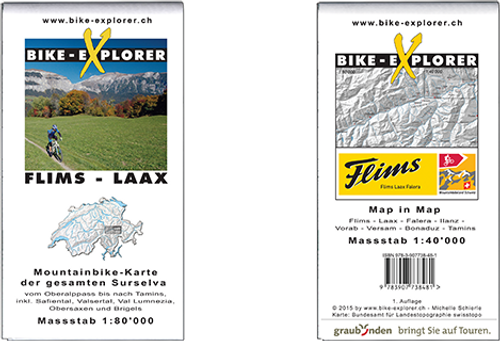 Bike Explorer Karte Flims-Laax, 1:40'000