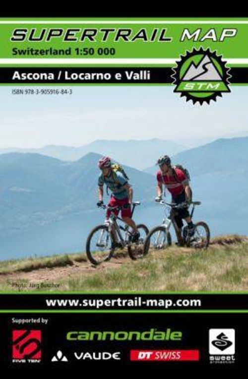 Supertrail Map Ascona – Locarno e Valli, 1-50'000