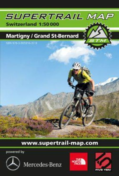 Supertrail Map Martigny/Grand St-Bernard, 1:50'000